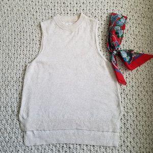 Lou & Grey Mock Turtleneck Tank Sweater Size L